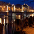 Night bridges, Saint-Petersburg, Russia — Stock Photo #25459399