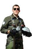 Piloto militar — Fotografia Stock