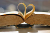 Book with heart shape. — Stock Photo