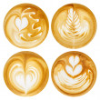 Latte Art, coffee in white background — Stock Photo