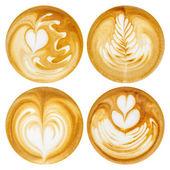 Latte Art, coffee in white background — Stock Photo