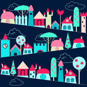 Colored houses background — Stock Vector