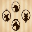Dogs vintage silhouettes — Stock Vector #26007705