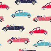 Retro cars seamless pattern — Stock Vector
