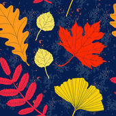 Colorful autumn leaves seamless pattern — Stockvektor
