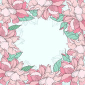 Beautiful floral background with roses — Stock Vector
