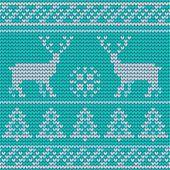 Knitted Scandinavian vector seamless pattern — Stock Vector