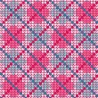 Plaid knitted colorful seamless pattern — Stock Vector