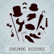 gentleman accessories — Grafika wektorowa