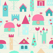 Funny colorful houses. — Stock Vector