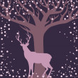 Stock Vector: Background with deer