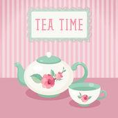 Tea time. — Stock Vector