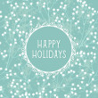 Beautiful winter holidays greeting card — Imagen vectorial