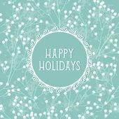 Beautiful winter holidays greeting card — Stock Vector