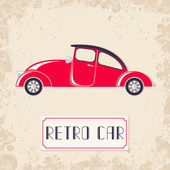 Vintage style red retro car — Stock Vector