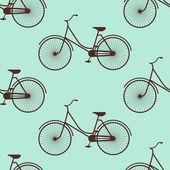 Vintage bicycle silhouette — Vector de stock