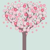 Cherry tree blossom. — Stock Vector