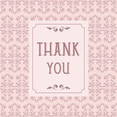 Thank you card design with vintage background — Stock Vector