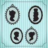 在帧中的家族肖像 — 图库矢量图片
