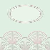 Elegante oosterse stijl kaartsjabloon met oval frame — Stockvector