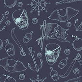 Pirates theme  background — Stock Vector