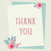 Thank you card template — Stock Vector