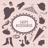 Ladies accessories set — Stock Vector