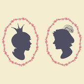 王子と王女 — ストックベクタ