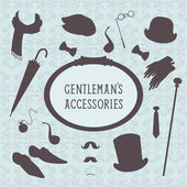 Vintage style set of gentleman accessories — Vetorial Stock