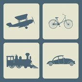 Vintage transportation set. — Vecteur