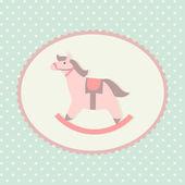 Children rocking horse — Stock Vector