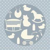 Baby care icons set. — Stock Vector