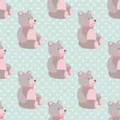 Cute teddybears seamless pattern — Stock Vector