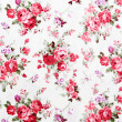 Stock Photo: Rose bouquet design Seamless pattern on fabric as background