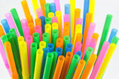 Colorful drinking straws close-up background,Backgrou nds,Textur — Stock Photo