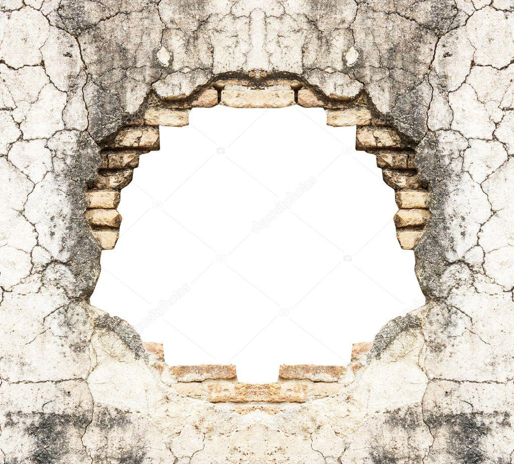 Trou en vieille brique b ton et mur vintage fond for Reboucher un trou dans un mur