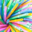 Colorful drinking straws close-up background, colorful plastic — Stock Photo #34620153