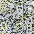 Stock Photo: Ring pull aluminum of cans, background