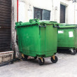 A large green recycling bin, Big green bin. — Stock Photo