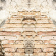 Old concrete vintage brick wall background — 图库照片