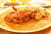 Stirred Fried Crab with Garlic, Pepper, Curry Powder. — Stock Photo
