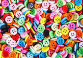 Colorful buttons, Colorful Clasper close up — Stock Photo