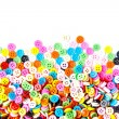 Colorful buttons,  Colorful  Clasper isolate on white background — Stock Photo