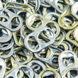 Ring pull aluminum of cans, background — Stock Photo #35400077