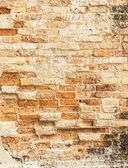 Old cracked concrete vintage brick wall background — Photo