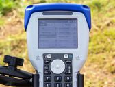 Data Collector lying,data collector ready,Data Collector , The control panel, Surveying. — Stock Photo