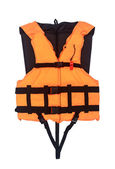 Orange Life Jacket Isolated , with clipping path — Stock Photo