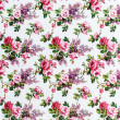 Rose bouquet Seamless pattern on fabric as background — Stock Photo