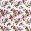 Stock Photo: Rose bouquet Seamless pattern on fabric as background