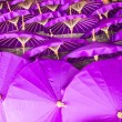 Stockfoto: Thailand, Chiang Mai, hand painted Thai umbrellas drying in the